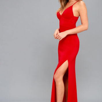 Limousine Queen Red Maxi Dress