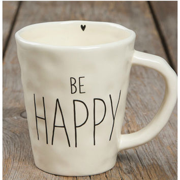 Natural Life Mug - Be Happy