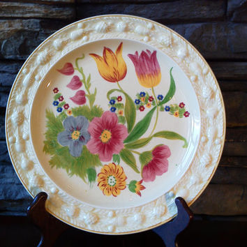 Plate Titan Ware, England 'Royal Adams Ivory' Hand Painted
