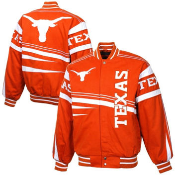 Texas Longhorns Arch Rival Twill Full Button Jacket - Burnt Orange