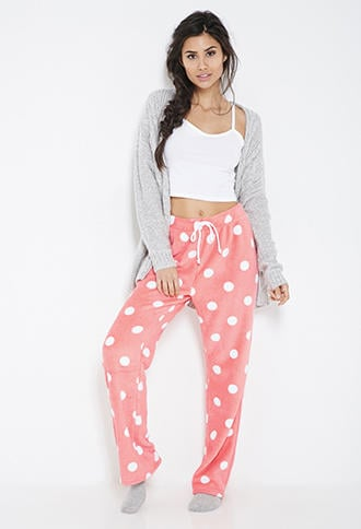 Forever 21 Plush Polka Dot Pj Pants From Forever 21 Pajamas
