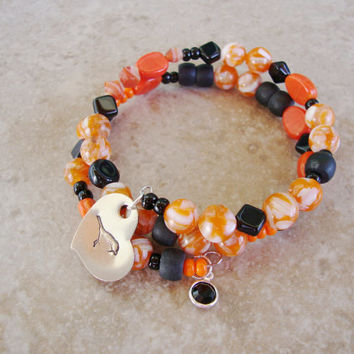 Wrapping it up Orioles style wrap bracelet baseball fan orange black bird baltimore