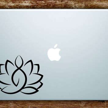 Yoga Lotus Flower Laptop Apple Macbook Quote Wall Decal Sticker Art Vinyl Beautiful Zen Meditate Namaste Mandala