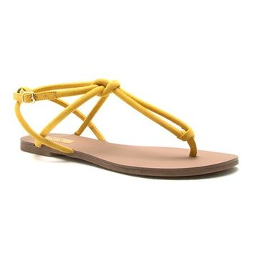 Yellow Knot Archer Sandal