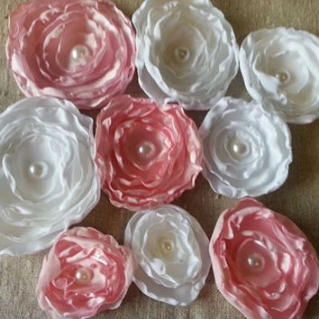 Custom made satin flowers, you choose your wedding colors!