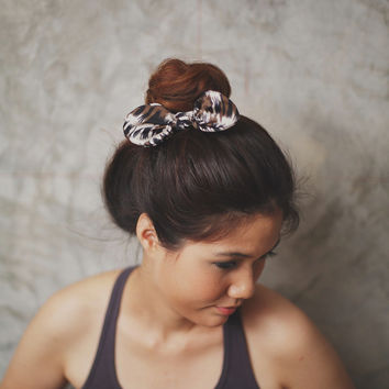 NEW :Color drop brown bow - Hair Scrunchie, Bun Wrap, Ponytail holder/ Hair Ties collection