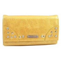 Kenneth Cole Reaction Women's Studded Double Flap Clutch Wallet