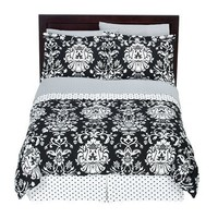 Xhilaration® Damask Bed in a Bag - Black & White
