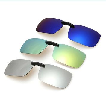 Men's Fishing Eyewear Glasses Clip Light Polarized Sunglasses Clip Driving Fishing
