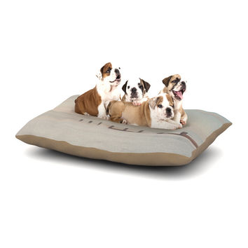 "Laura Evans ""The Rising Tide"" Brown Gray Dog Bed"