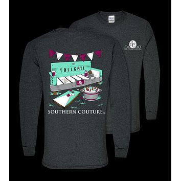 Southern Couture Preppy Tailgate Bench Fall Long Sleeve T-Shirt