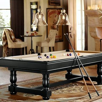 POTTERY BARN TURNED-LEG POOL TABLE
