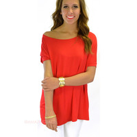 Boyfriend Piko Short Sleeve Red