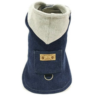 Dog or Cat Coat Denim Hooded Dog Jacket Several colors available pet clothing dog clothing pet clothes cat jacket cat clothes dog clothes