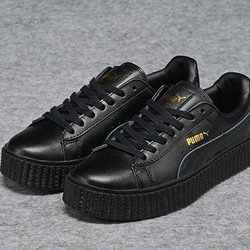 Fenty Rihanna Puma Creepers All Black Men's Women's Leather Shoes