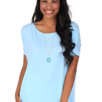 PIKO Something About You Light Blue Tunic | Monday Dress Boutique