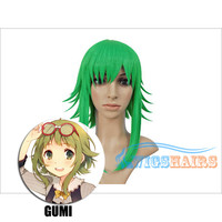 """12"""" Chin Length Synthetic Wigs Cosplay VOCALOID GUMI Green"""