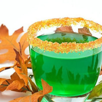 Fall colored cocktail sugar - rim sugar in bulk for autumn wedding, rustic party signature drinks - 100 glasses