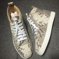 Cl Christian Louboutin Genuine Python Style #1996 Sneakers Fashion Shoes - Best Deal Online