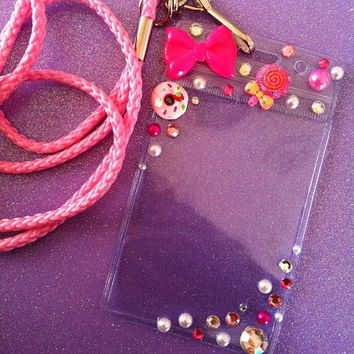 HOT Pink ID Badge Lanyard by JMxSweets on Etsy