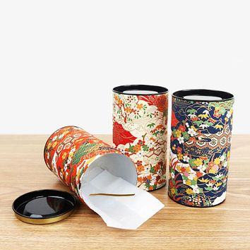 Vintage Candy Sealed Cans Flower Cloth Coffee Sugar Tea Tin Jar Container Storage Box Exquisite Flower Tea Storage tank