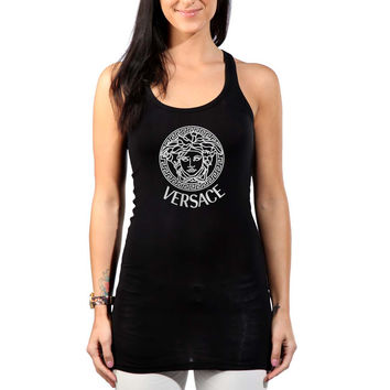 VERSACE Printed Logo New Womens Tank Top *