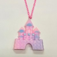 Big Castle Necklace (Pink)