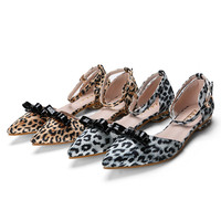 Stylish Design Leopard Butterfly Shoes Flat Summer Sandals [6031698881]