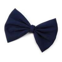 Fabric Bow Hair Clip  | Icing