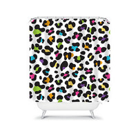 Shower Curtain CUSTOM You Choose Colors Cheetah Animal Pattern Rainbow Bathroom Bath Polyester Made in the USA