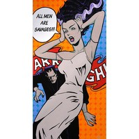 All Men Are Savages by Mike Bell Fine Art Giclee Canvas Print