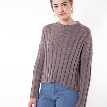 Ada Tan Ribbed Sweater