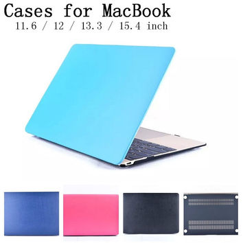 Stick to leather technology shell case for Macbook Air Pro Retina 11.6 12 13.3 15.4 inch laptop Cases For Mac book bag,SKU0132F