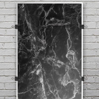 Smooth Black Marble - Ultra Rich Poster Print