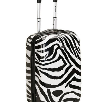 "F191-ZEBRA 20"" Polycarbonate Carry On Luggage Set"