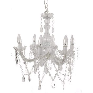 Alluringly Captive Winter Blanche Beaded Chandelier By Casagear Home
