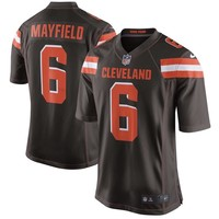 Men's Cleveland Browns Baker Mayfield Brown Authentic Replica Jersey
