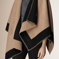 Wool and Cashmere Blanket Poncho