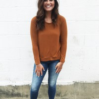 Late Night Latte's Knit Top - Sienna