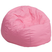 Oversized Solid Light Pink Bean Bag