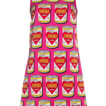 Dolce & Gabbana Can Of Amore A-Line Silk Dress - Farfetch