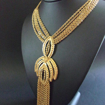 Best Long Gold Fringe Necklace Products on Wanelo 70d76981b1a1