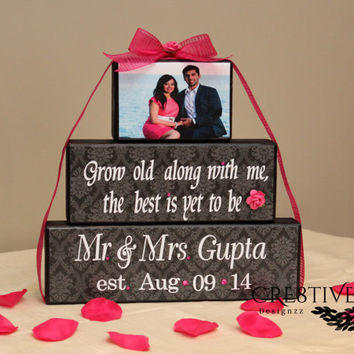 Personalized LOVE/Saying/Photo Wedding/Anniversary Gift Wood Blocks