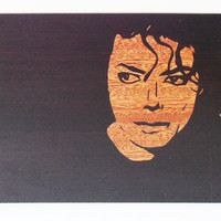 Michael Jackson Portrait Custom Portrait On Wood Picture Birthday Gift Photo On Wood Michael Jackson Print Michael Jackson Poster Wall Art