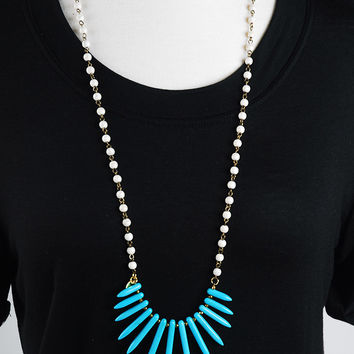 The Samantha Necklace - Blue