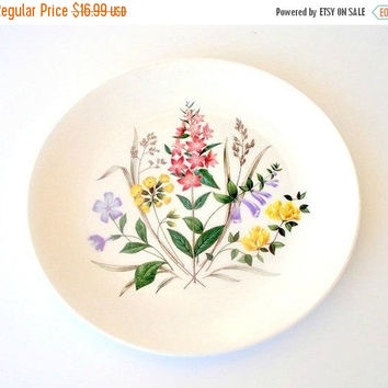 SALE Ridgway China English Garden Dinner Plate, Staffordshire England, Ridgway Ironstone Plate, Spring Flowers China Plate.