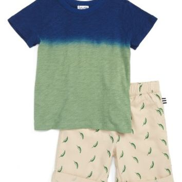 Splendid Dip Dyed T-Shirt & Shorts Set (Toddler Boys & Little Boys) | Nordstrom