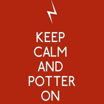 Keep Calm and Potter On 5 x 7 Harry Potter by 3LambsGraphics