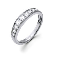 Simon G. 0.79 Carat Princess Diamond Wedding Band 18K White Gold