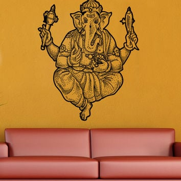 Vinyl Wall Decal Sticker Ganesha Statue #5487